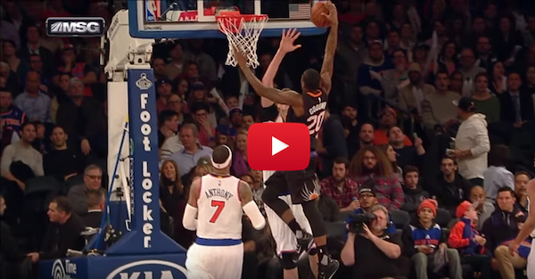 Archie Goodwin loved his poster on Porzingis so much he got T'd up for it