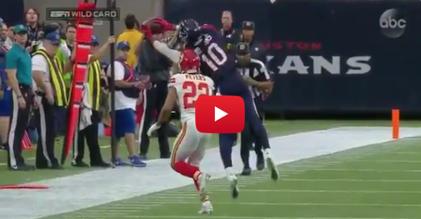 DeAndre Hopkins makes ridiculous catch, somehow stays inbounds