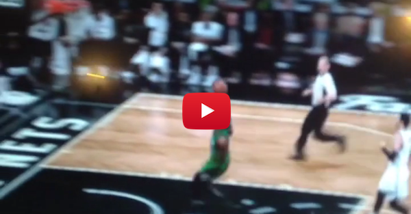 Jae Crowder got away with a blatant travel and the refs don't care