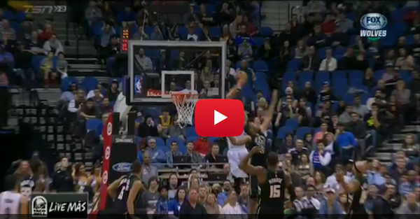 Zach LaVine was actually flying for this alley-oop