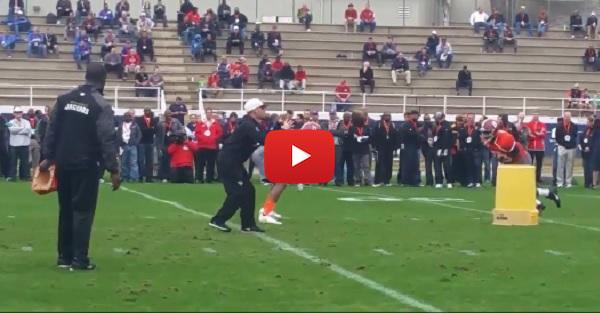 Alabama LB Reggie Ragland destroys teammate in Senior Bowl drill