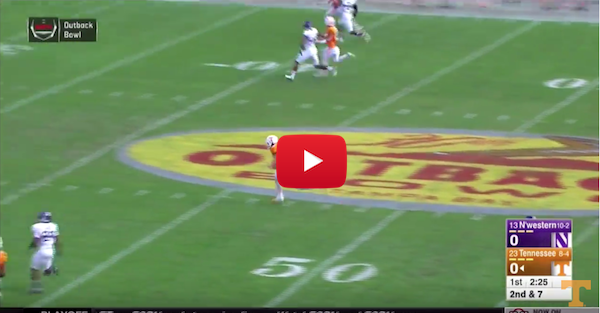 Tennessee demolishes Northwestern's defense on way to Outback Bowl win