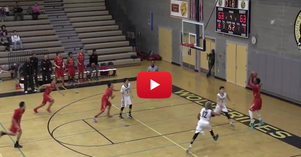 This high schooler ended his game in the most Reggie Miller way possible