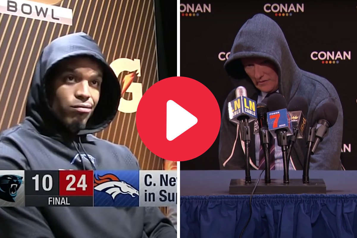 Conan O'Brien's Impression of Cam Newton Was Hilariously Spot-On