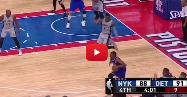 Langston Galloway makes a fool out of Reggie Jackson with this pump fake