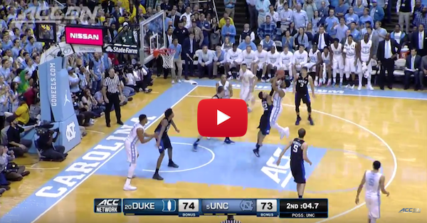 The first Duke-UNC game of the season did not disappoint with amazing finish