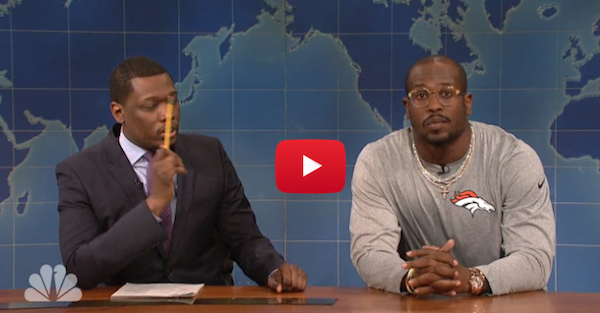 Von Miller keeps trolling Cam Newton with appearance on SNL