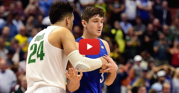 Poor sport: Watch Duke's Grayson Allen shove off Dillon Brook's handshake