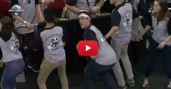 The UNC and Providence bands got into a dance off and things got strange