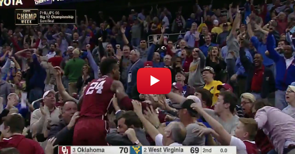 The Oklahoma radio call of Hield's shot was just as great as the shot itself