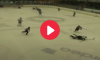 Hockey Player Hit