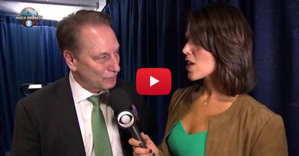 Tom Izzo breaks down trying to thank Denzel Valentine