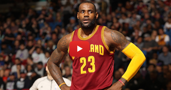 More trouble in paradise? LeBron looked pissed as the Cavs lost to the Nets