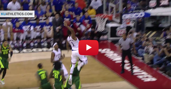 Kansas gets by Baylor in Big 12 semis thanks to a dunk fest