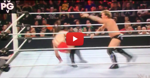 Wrestler's leg injury looks so much worse in slow motion