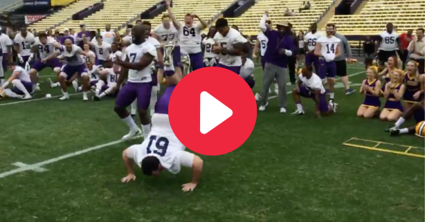 LSU Hosted a Dance-Off & a 280-Pound Lineman Stole The Show