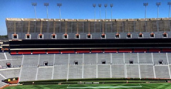 The cut on Auburn's field for the spring game was amazing