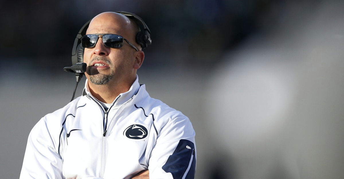 Penn State head coach tweets very unfortunate graphic about his team