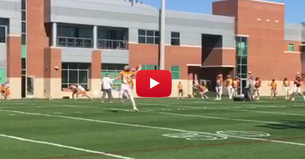 Tennessee's Josh Smith is already looking better than he did last season with this nice catch
