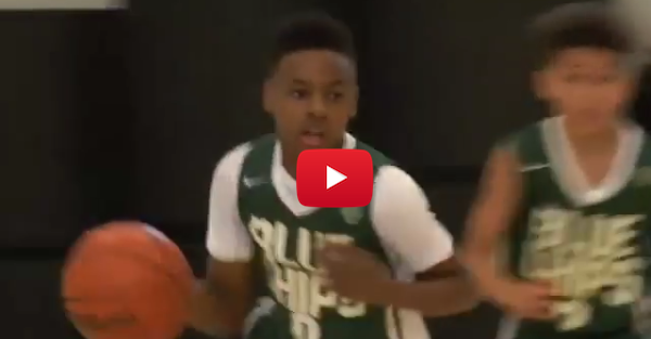 LeBron James Jr. is at it again looking like his dad on defense
