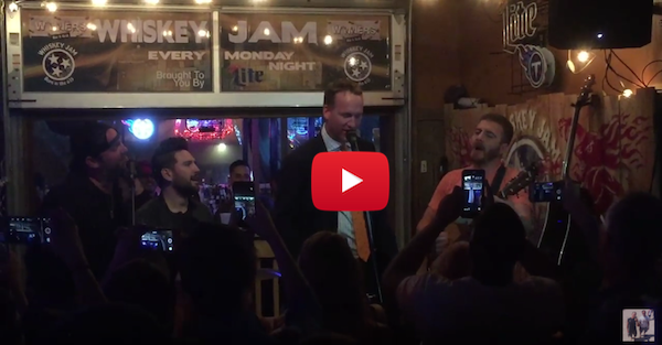 Peyton Manning butchers 'Rocky Top' during karaoke night in Nashville