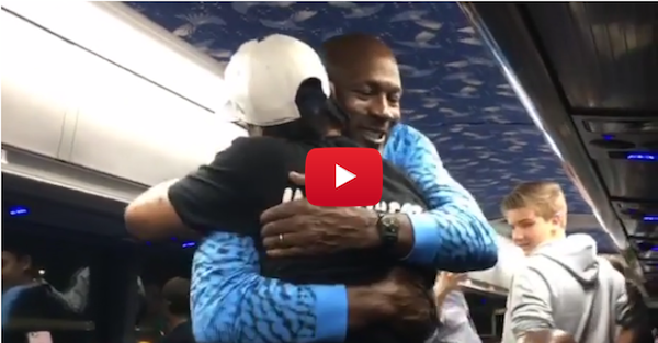 Michael Jordan and Allen Iverson shared a special moment together and it was magical
