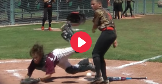 Little Leaguer Takes Nasty Collision Like a Champ