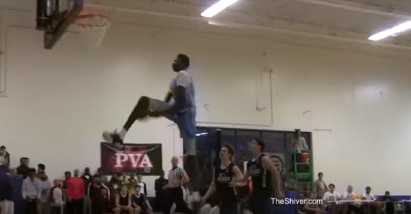 """Manute Bol's son throws down dunk no 6'11"""" player should be able to"""
