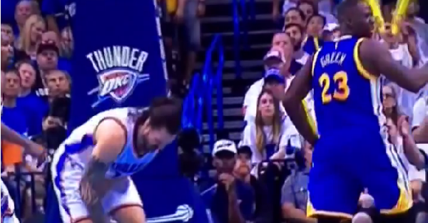 Draymond Green got away with the dirtiest play ever and somehow isn't tossed from the game