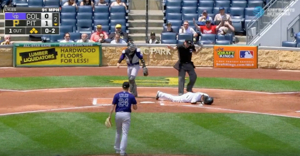 Pirates player takes brutal pitch off the face, has to be carted off the field