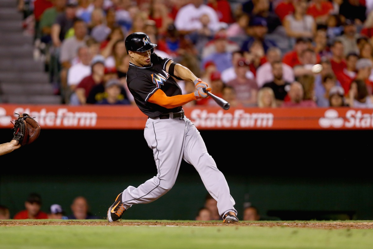 Giancarlo Stanton is a beast, hit a ball so hard at the HR derby it probably cried