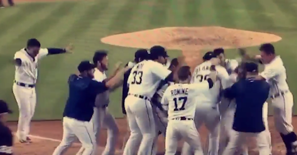 Tigers shortstop enjoyed a walk-off home run with an incredibly NSFW celebration