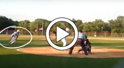 Clever Baseball Player Steals Home By Sliding Through Teammate's Legs