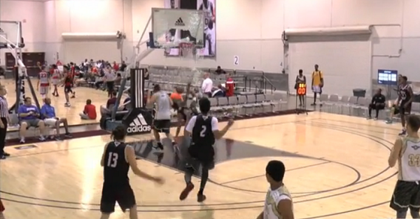 Four-star forward throws down five-star dunk in Adidas Uprising tourney