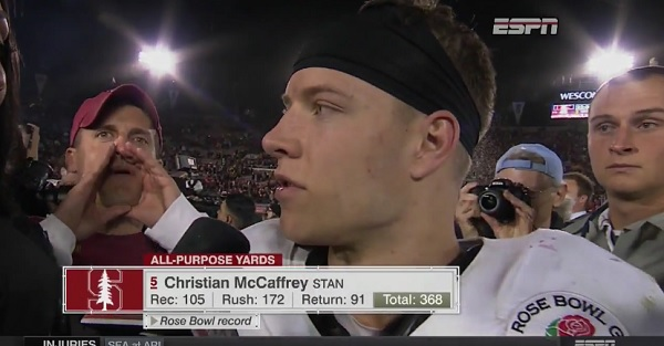 Stanford's McCaffrey officially comments on the most annoying fan of all time