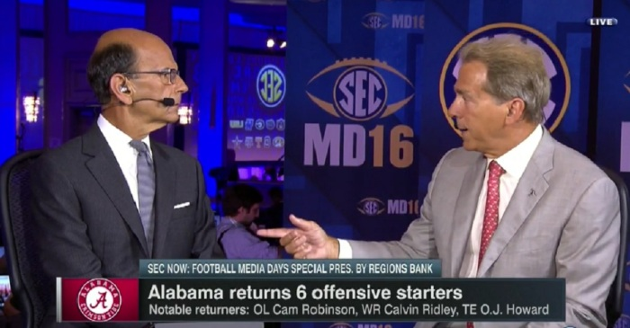 Nick Saban and Paul Finebaum went at it over the Cam Robinson fiasco