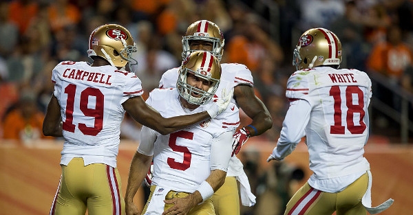 The 49ers went all backyard football and drew up a play on the sideline before scoring