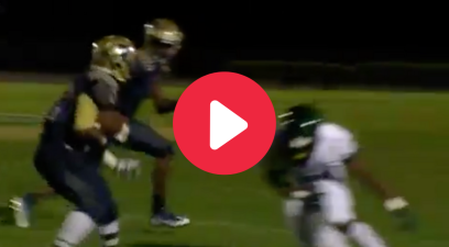 "High Schooler's ""Fake Punt Front Flip"" Made His Sideline Erupt"