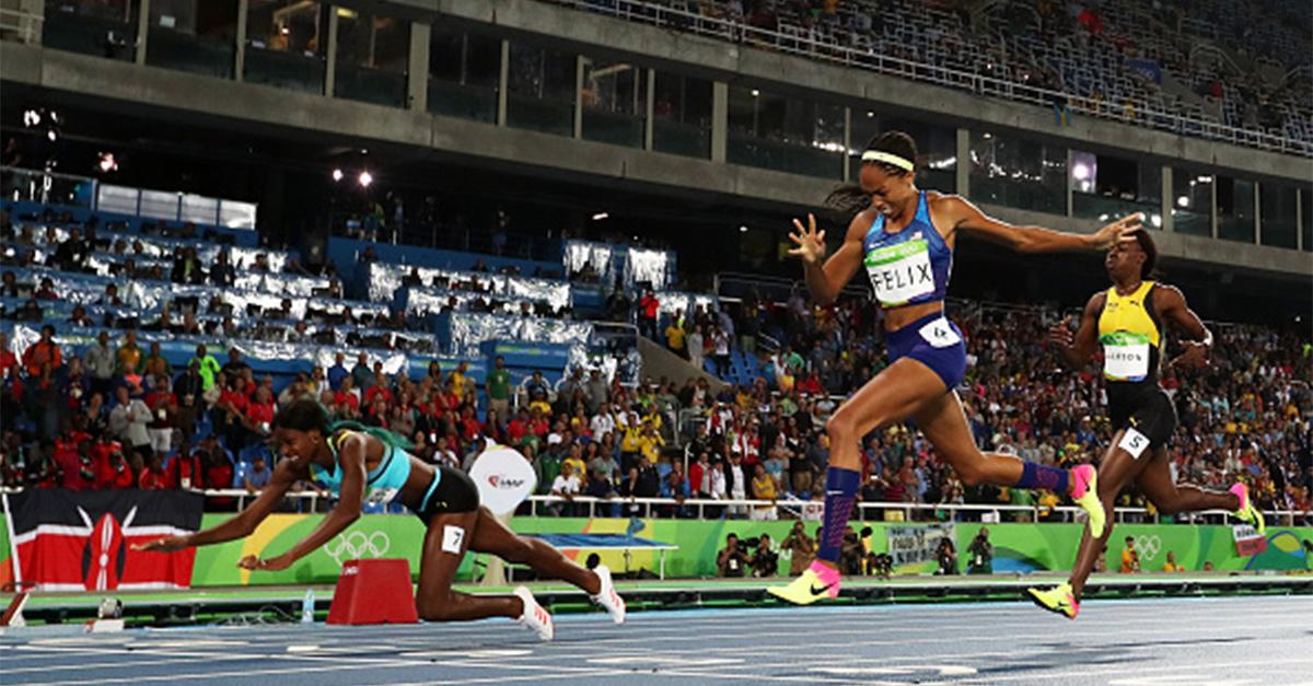 Bahamas sprinter Shaunae Miller's dive across the finish line cost Team USA's Allyson Felix her fifth gold medal