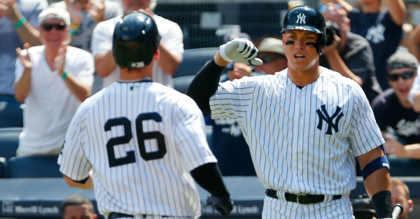 The Yankees made history Saturday when two rookies hit back-to-back HR's in their first at bat