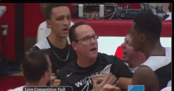 Wichita State coach loses his mind and goes after the refs in Canadian exhibition game