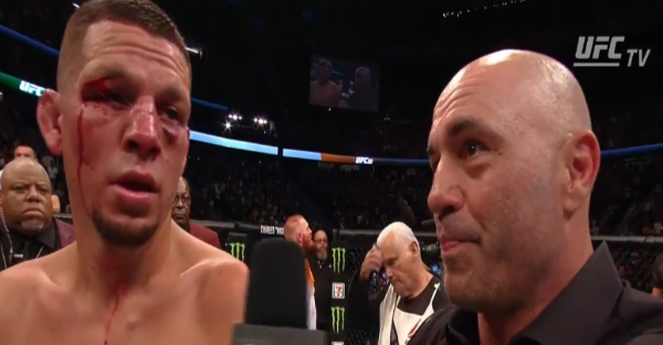 Nate Diaz thinks he beat McGregor and goes off an a profanity-laced tirade after the fight