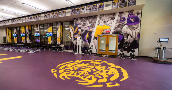 LSU football gets a new weight room, and it's sweet