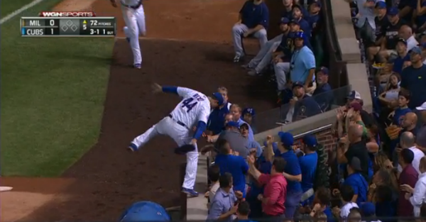 Anthony Rizzo specializes in the ridiculous, makes another insane catch