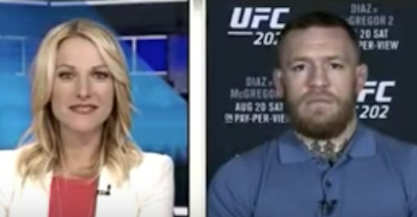 Fed up Conor McGregor clearly didn't care he was on live TV and let the f-bomb fly