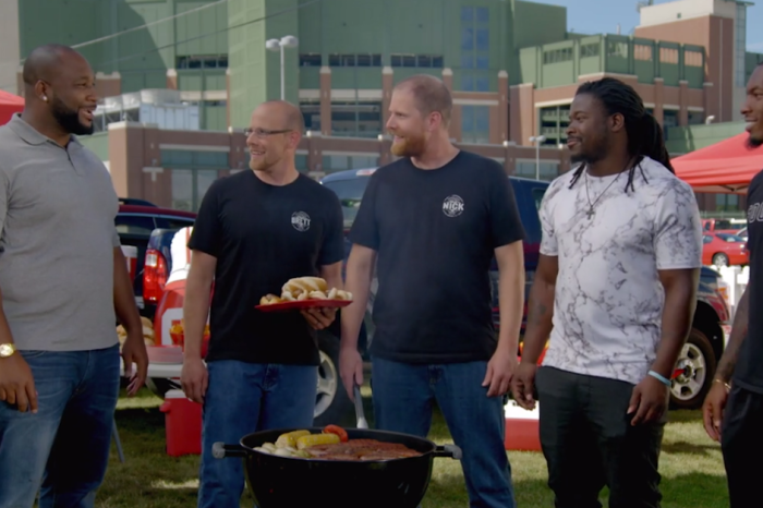 """""""By way of Alabama"""" Watch Clinton-Dix and Eddie Lacy struggle through this sausage commercial"""