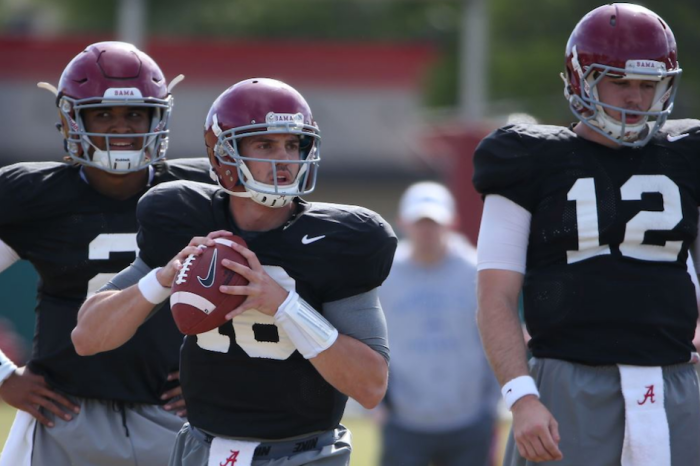 Crimson Tide QB battle looks to be down to two