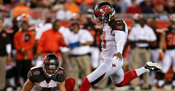 We can all take a deep breath. It looks like Roberto Aguayo has things straightened out