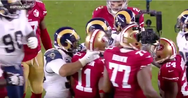 Rams' Aaron Donald lost his mind and tried to choke a guy on MNF