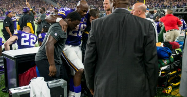 Adrian Peterson's production has cratered to historic lows